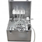 Portable Dental Unit Delivery Rolling Case Powerful with Saliva Suction System GM-02