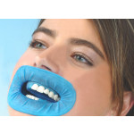 10X Dentist Surgery Use Dental O-shape Blue Disposable Rubber Dam Mouth Gag for Absolute Isolation