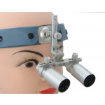 5.0x Magnification Professional Loupes with Comfortable Headband for Dental, Surgical, Jeweler, or Hobby | Adjustable Pupil Distance Model #DH5HB