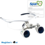 3.0 x Magnification Professional Dental Loupes  Silver BP Sports Frame and Adjustable Pupil Distance Model #CH300