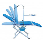 Portable Full Folding Dental Mobile Chair with LED Cold Light and Cuspidor Tray Loading Capacity LYC9601-2