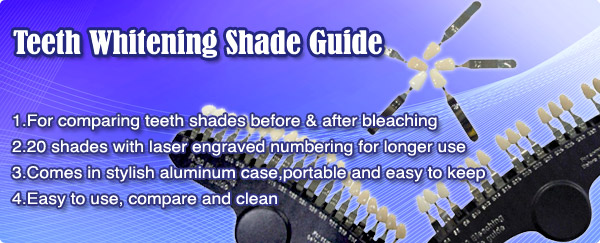 Teeth Whitening Shade Guide