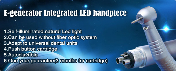 E-generator Integrated LED handpiece