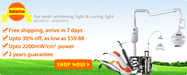 teeth whitening light & curing light big surprise